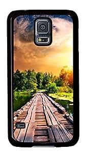 Diy Fashion Case for Samsung Galaxy S5,Black Plastic Case Shell for Samsung Galaxy S5 i9600 with Landscape