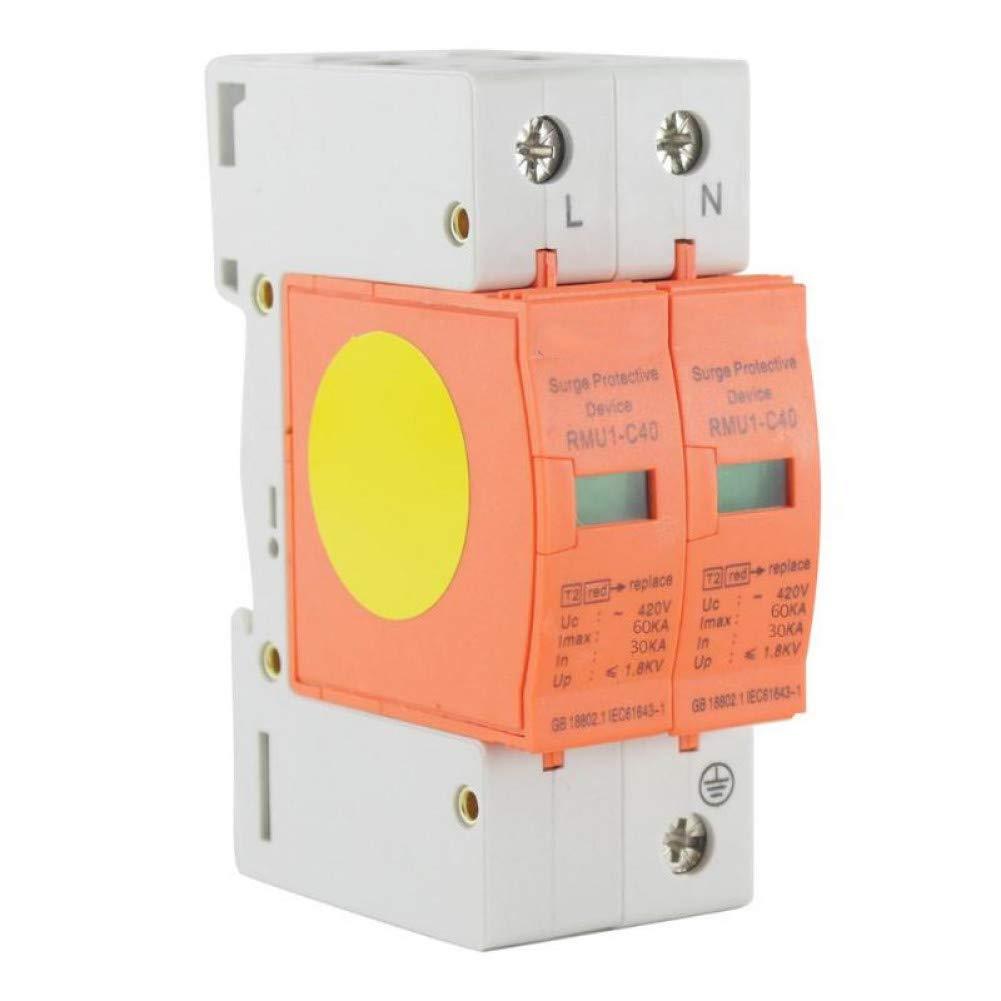 DLQLBD Disyuntores 1P + N House Protector De Sobretensión Dispositivo De Protección De Pararrayos De Bajo Voltaje Disyuntores 30Ka ~ 60Ka Ac 420V E1860E