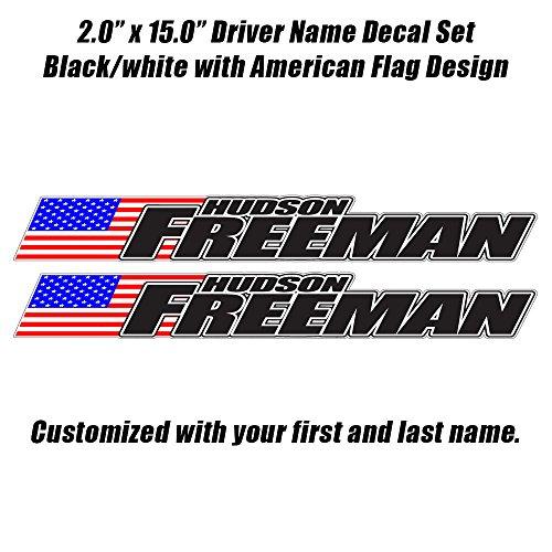 - Race car Driver Name Decal Set - Late Model, Rallycross Rally Car, Dirt Car JDM
