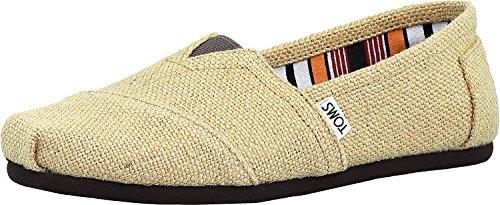 TOMS Men's Classic Burlap Natural Ankle-High Canvas Flat Shoe - - Mens Toms