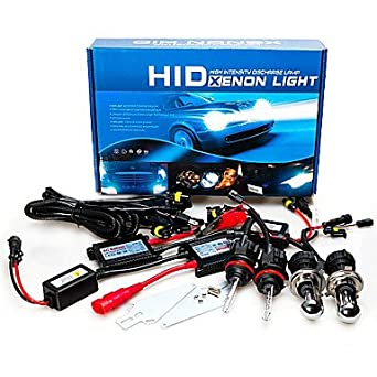 12V 55W H4 Xenon Hid AC Hight / Low Conversion Kit 8000K ( Lichtfarbe : Blau ) HUILIAN