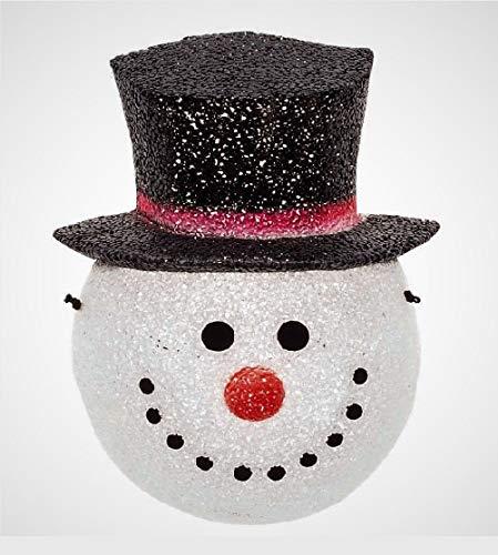 Snowman Head Christmas Outdoor Light Light Post in US - 7