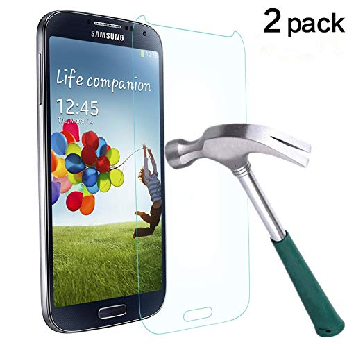 TANTEK Tempered Glass Screen Protector for Samsung Galaxy S4-2 Pack (Best Screen Protector For Samsung Galaxy S4)