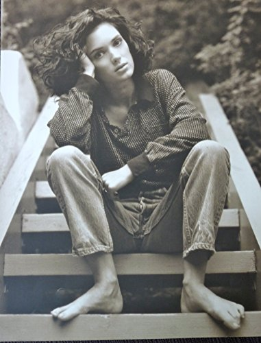 Winona Ryder - Sitting on Steps - Rare Poster Portrait - 11.5x15