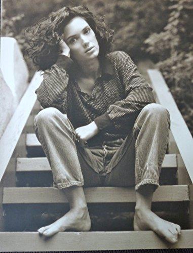 Winona Ryder - Sitting on Steps - Rare Poster Portrait - 11.5x15
