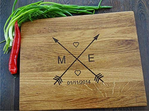 Personalized handmade cutting board Laser engraved cutting board