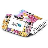 Princess Friends Sparkle Belle Rapunzel Tiana Decorative Decal Cover Skin for Nintendo Wii U Console and GamePad