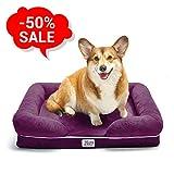 [Final Sale -50%] Dog Orthopedic Memory Foam Bed - Pet Ergonomic Pillow - Comfortable Sofa for Dogs (S, Purple)