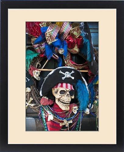 Gasparilla Pirate Festival (Framed Print of USA, Florida, Tampa. Gasparilla Festival wreath)