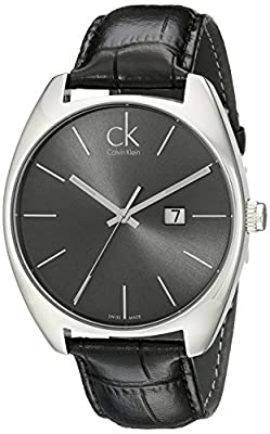 Calvin Klein Men's K2F21107 Exchange Analog Display Swiss Quartz Black Watch