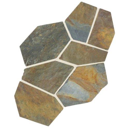 Dal-Tile S781PATTNFLAG1P- Slate Tile, Mongolian Spring