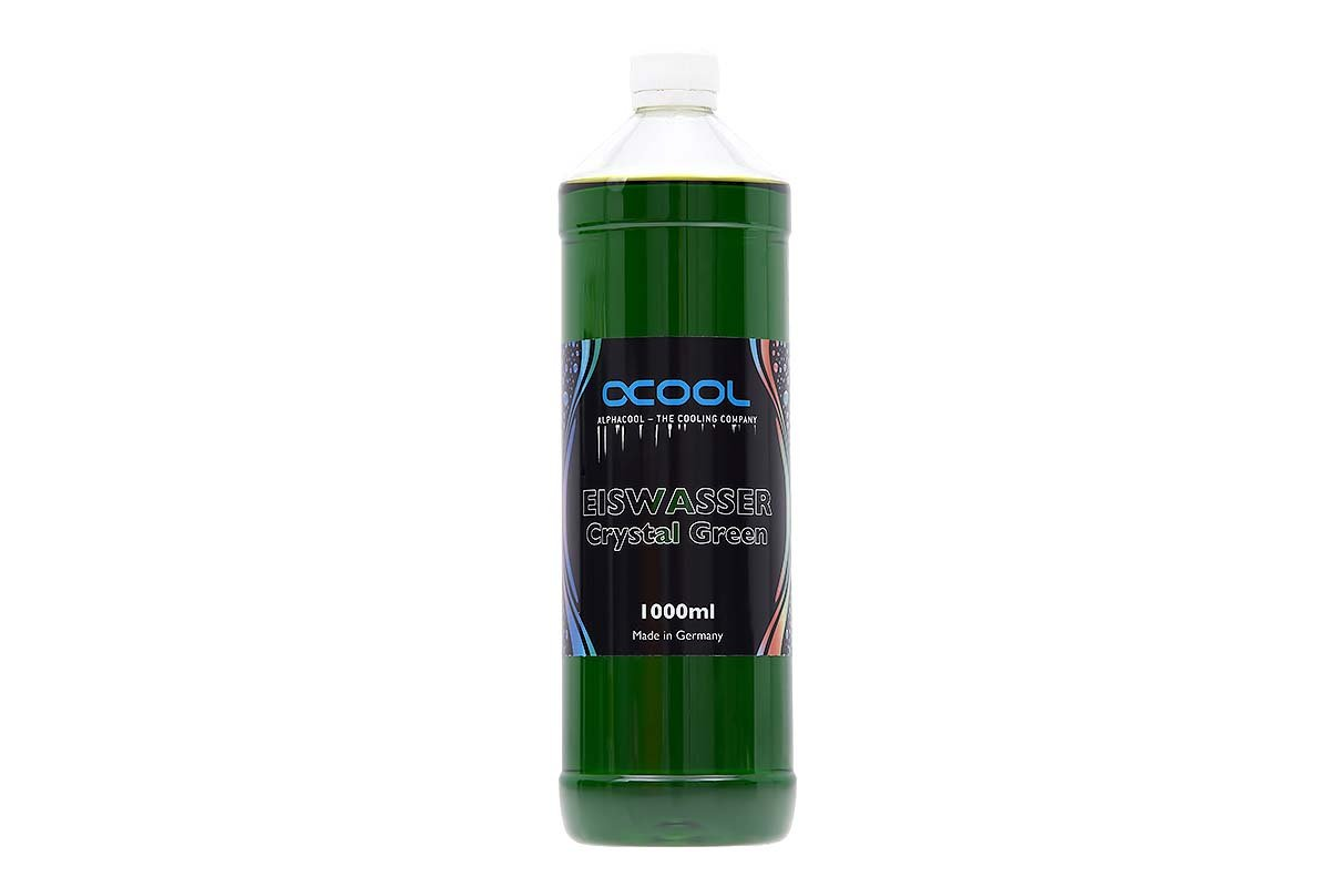 Alphacool 18550 Eiswasser Crystal Green premixed coolant 1000ml Water Cooling Water additives
