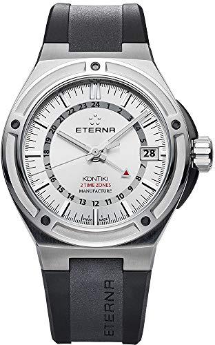 Gmt Automatic Gents Watch - Eterna Gents-Wristwatch Royal KonTiki Date GMT Analog Automatic 7740.40.11.1289