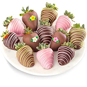 Golden State Fruit 12 Piece Joy of Spring Chocolate Covered Strawberries