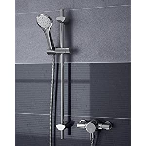 Bristan SOQ2 SHXAR C Sonqiue 2 Thermostatic Surface Mounted Shower Valve with Adjustable Riser – Chrome