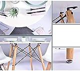 Coavas Kitchen Dining Table White Round Coffee