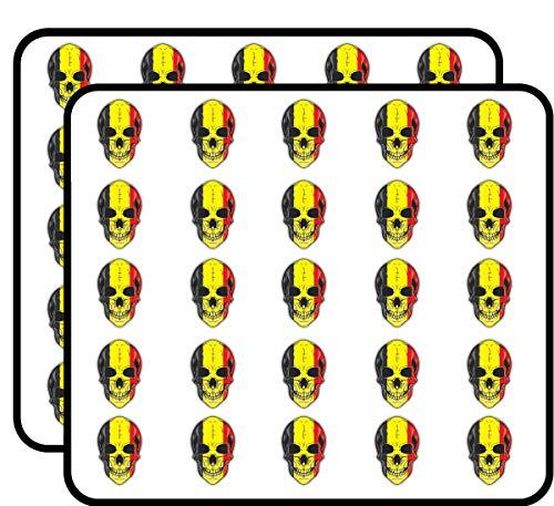 - Skull Flag Belgium Sticker for Scrapbooking, Calendars, Arts, Kids DIY Crafts, Album, Bullet Journals 50 Pack