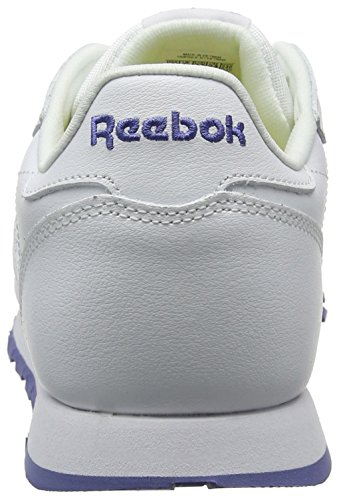 Reebok Classic Leather, Zapatillas Unisex Niños Varios colores (Lurex-White / Lilac Shadow)