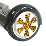 MightySkins Protective Vinyl Skin Decal for Board Balance Board Scooter Wheels wrap cover sticker skins Gold Chips