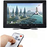 ATian 8 Inch TFT LCD Color Video Monitor Screen VGA BNC AV HDMI Input with Remote Controller for PC CCTV Home Security(Support as computer monitor)