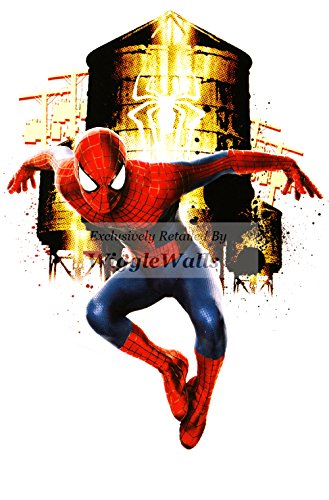 8 inch Amazing Spiderman Spider Man Marvel Comics Removable Peel Self Stick Adhesive Vinyl Decorative Wall Decal Sticker Art Kids Room Home Decor Boys Children Nursery Baby 6x8 Inch Tall