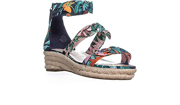 NINE WEST Womens Allegro Open Toe Casual Espadrille Sandals
