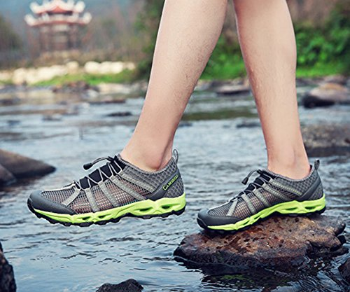 gris botas XIGUAFR Unisex bajo de adulto vert caño et BOAwZO