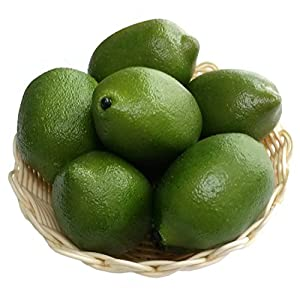Gresorth 8pcs Artificial Lifelike Simulation Green Lemon Decoration Fake Fruit House Kitchen Party Decorative Props 81