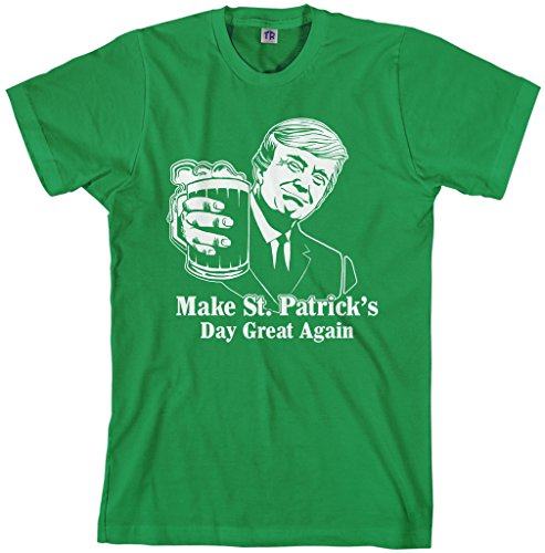 St Patricks T Shirt (Threadrock Men's Trump Make St. Patrick's Day Great Again T-Shirt XL Kelly Green)