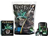 GREENLIGHT GUYS Root Riot 100 Cubes Refill Bag & Clonex 50Ml & Formulex 500Ml