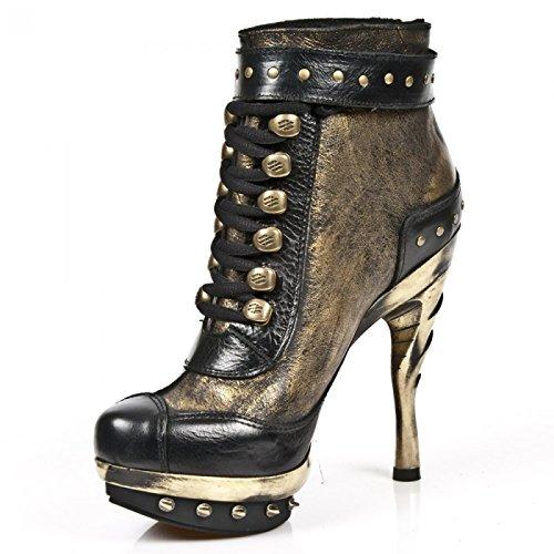 New Rock Boots M.punk028-c10 Gotico Hardrock Punk Damen Stiefelette Schwarz