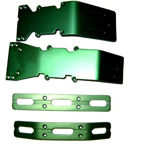 T-Maxx and E-Maxx Green Anodized Skid Plate and Bumper by RC Raven ()