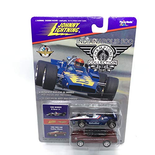 Johnny Lightning 1992 Al Unser Jr. & Cadillac Allante Pace Car Indianapolis 500 Champions Series 2 1996 Playing Mantis 1:64 Scale Authentic Replicas of Famous Indy Winners Die Cast Vehicle 2-Pack ()