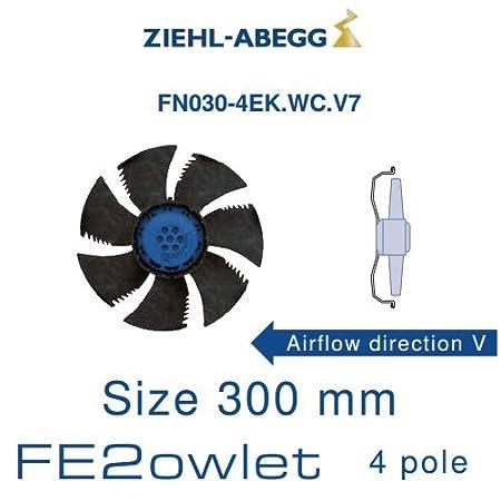 Fan hélicoïde fn030-4ek. WC. V7, ziehl-abegg: Amazon.co.uk: Kitchen ...