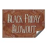 CGSignLab |''Black Friday Blowout -Victorian Card'' Heavy-Duty Industrial Self-Adhesive Aluminum Wall Decal | 36''x24''