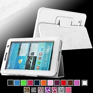 Fintie Slim Fit Folio Case Cover for Samsung Galaxy Tab 7.0 Plus / Samsung Galaxy Tab 2 7.0 Tablet - White