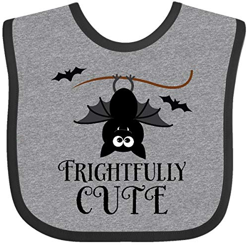 Cute Halloween Quotes Baby (Inktastic Halloween Bat Frightfully Cute Holiday Baby Bib Heather and)