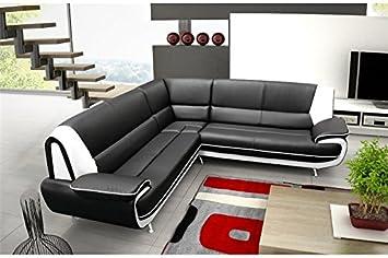 Divano Nero E Bianco : Chloé divano angolare jenna xxl reversibile nero e bianco