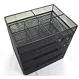 Ikee Design Metal Mesh Drawers Cosmetic Box Organizer Storage Display