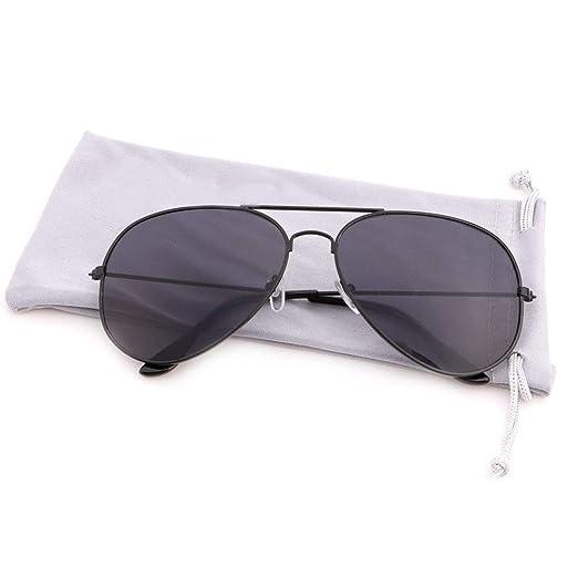 6271ad647a Creamily Classic Aviator Sunglasses for Women Men Vintage Metal Frame Eyeglasses  Mirrored Lens UV400 Protection Glasses