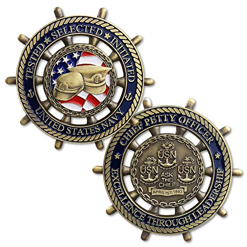 US Navy Chief Petty Officer CPO Challenge Coin - Ask The Chief ()