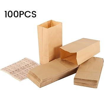 Amazon.com: Scorpiuse - Paquete de 100 bolsas de papel kraft ...