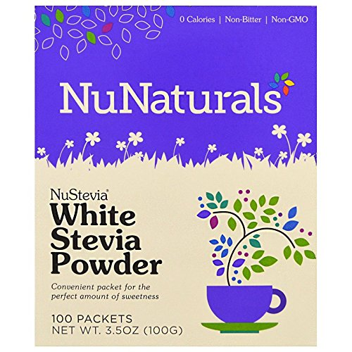 (NuNaturals Nustevia White Stevia Powder, 100 Count (4-Pack))