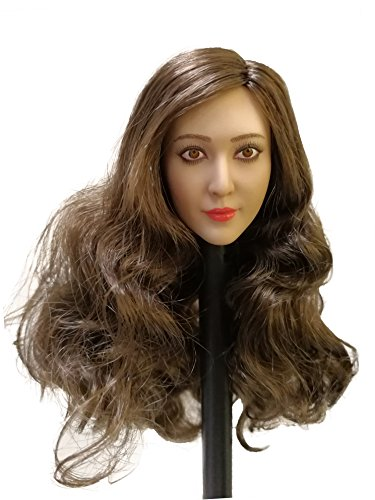 "Phicen 1/6 Scale Asia Head Sculpt with Brown Hair for 12"" Female Body"