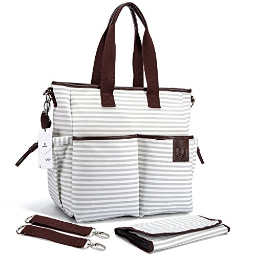 Diaper Bag - Stylish Designer Baby Canvas Messenger