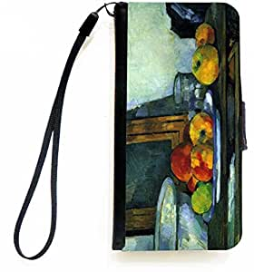 Rikki KnightTM Paul Cezzane Art Still Lifew with an Open Drawer PU Leather Wallet Type Flip Case with Magnetic Flap and Wristlet for Apple iPhone 5 &5s