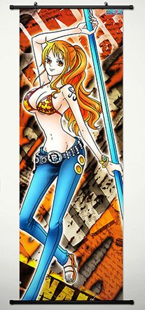 Wall Scroll Poster Fabric Painting For Anime One Piece Nami