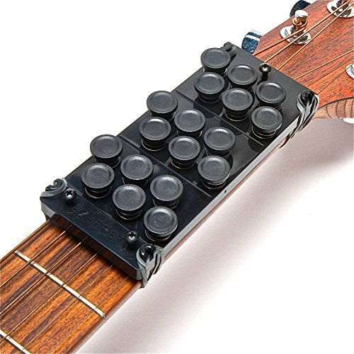Ez-Fret Beginner Guitar Attachment, Eliminates Finger Pain, 110 Chords Available, Fits Full Sized Acoustic Guitar, L/H OK