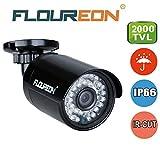 FLOUREON 1.3MP 960P CCTV DVR Camera 2000TVL 1/3 3.6mm Lens CMOS IR Led 36 PCS Night Version IP66 Waterproof Outdoor for AHD DVR Security System Only