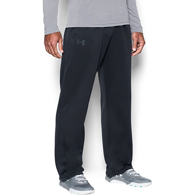 Under Armour Men's Storm Armour Fleece Pants, Black/Black, Medium best men's sweatpants